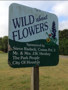 Wild about Wildflowers sign in Terry Hershey Park